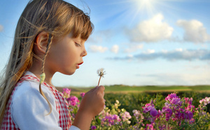 happiness, children, child, summer, sky, flowers, cute beautiful, roses, cl ...