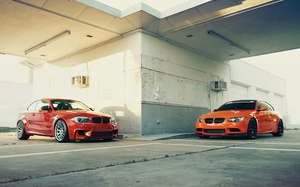 carbon, бмв, Bmw, fire, orange, m3, 1m