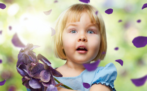 , Amazing little girl, happiness, childhood, roses, cute, flowers, children ...