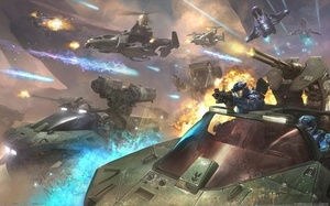 fire, хало, planet, spaceships, game wallpapers, sci-fi, Halo reach, alien  ...