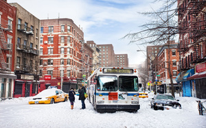 usa, New york, nyc, snow, winter, снег, зима, east village, нью-йорк