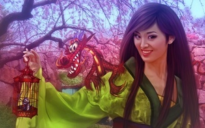 animated film, dragon, donatella drago, china, walt disney, girl, Mulan, pr ...