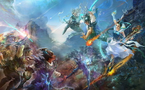 fantasy, perfect world, Jade dynasty, game wallpapers, mmorpg, китай, battl ...