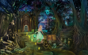 Dreamkeeper, gates, fairytales, girl, magic, ancient book, night, castle, f ...