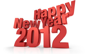happy new year, 3d, 2012, фон,