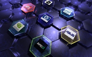 asus, Hi-tech, hp, internet, nvidia, amd, марки, art, intel, логотипы, ati