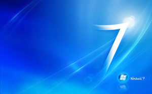 Windows, blue, logo, 7