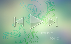 wallpaper, abstract, player, Обои, music, music player