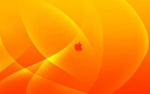 yellow, logo, orange, Mac, apple