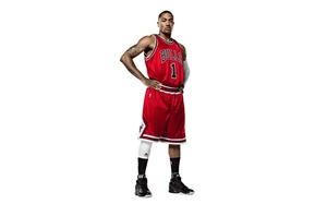 Chicago bulls, первый, nba, derrick rose, slam dunk, баскетбол, adidas, мяч